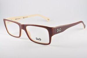 c69c7b949ea Dolce   Gabbana D G Eyeglasses DD 1210 1866 Brown On Beige