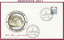 ITALIA FDC ROMA LUXOR 268 CASTELLO DI SCILLA 1985 ANNULLO TORINO U73