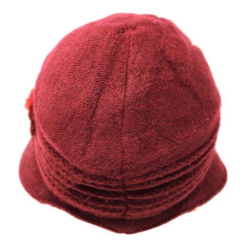 Women Winter Visor Beanie Rabbit Fur Beret Baggy Hat Crochet Cap Warm Slouch HB4