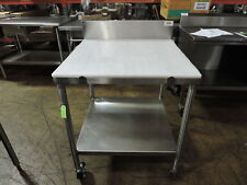 Commercial Stainless Steel Work Table With Poly Top Amp Undershelf