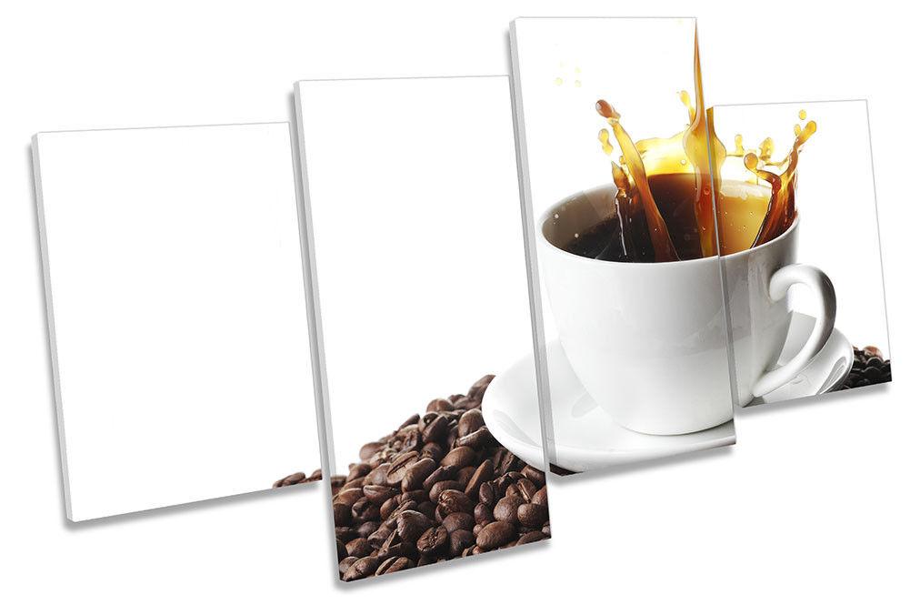Caffè Marronee Splash cucina foto Multi Tela Wall Wall Wall Art Print 6b87be
