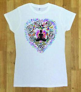 Women White T-Shirt With Heart Dye Shaped Butterfly Fashion Print TSM5
