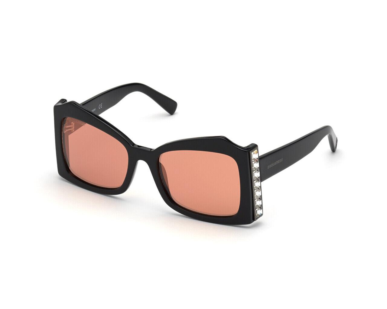 DSQUARED 2 Sunglasses dq0357 01u Black Women Bordeaux