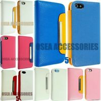 FOR APPLE IPHONE 5 5S 5G LEATHER CASE COVER WALLET FLIP POUCH + SCREEN PROTECTOR