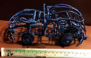 HTF-Blue-Wire-Art-Handmade-Dune-Buggy-Rollls-Doors-Open