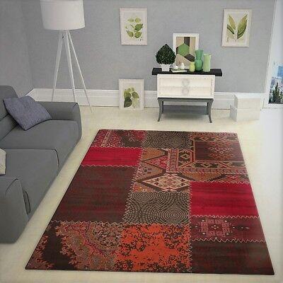 Brown Rug Patchwork Patterned Carpet