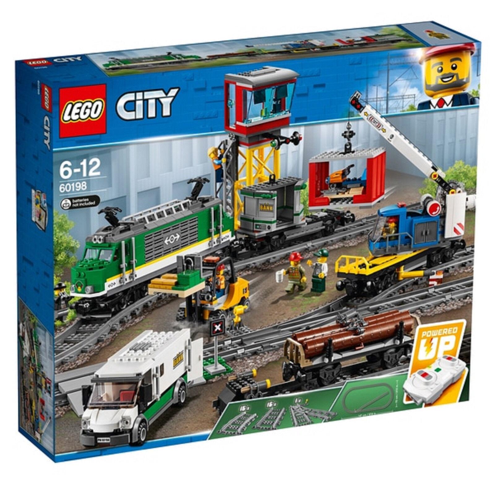 Lego ciudad 60198 tren de carga rc y pistas edificio Conjunto Nuevo