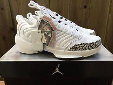 2004 DS OG Nike Air Jordan XIX 19 LOW 308513 111 White Cement Grey not retro