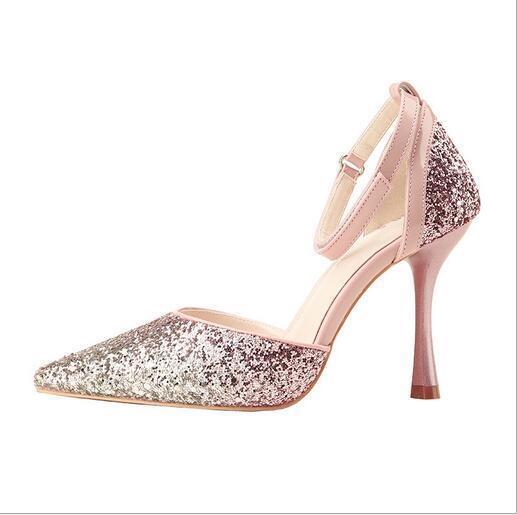 Women Sexy Pointed Toe High Heels Nightclub Nightclub Nightclub Sexy Sequins Stilettos Pumps shoes a2f554