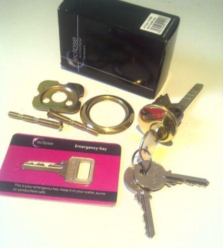 Remplacement Eclipse cylindre barillet avec clé d/'urgence nuit loquet verrou de porte