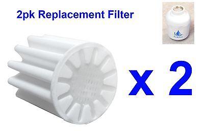 2pk Replacement Filter Element Bathroom In-Line Shower Head Water Softener