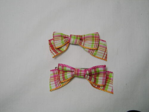 CHOOSE Gymboree CHERRY BABY hair barrettes snap clips plaid bows cherries summer