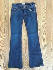 "Hudson Womens Signature Bootcut Dark Wash Denim Jeans Sz 25"" x 32.5"" USA Made"