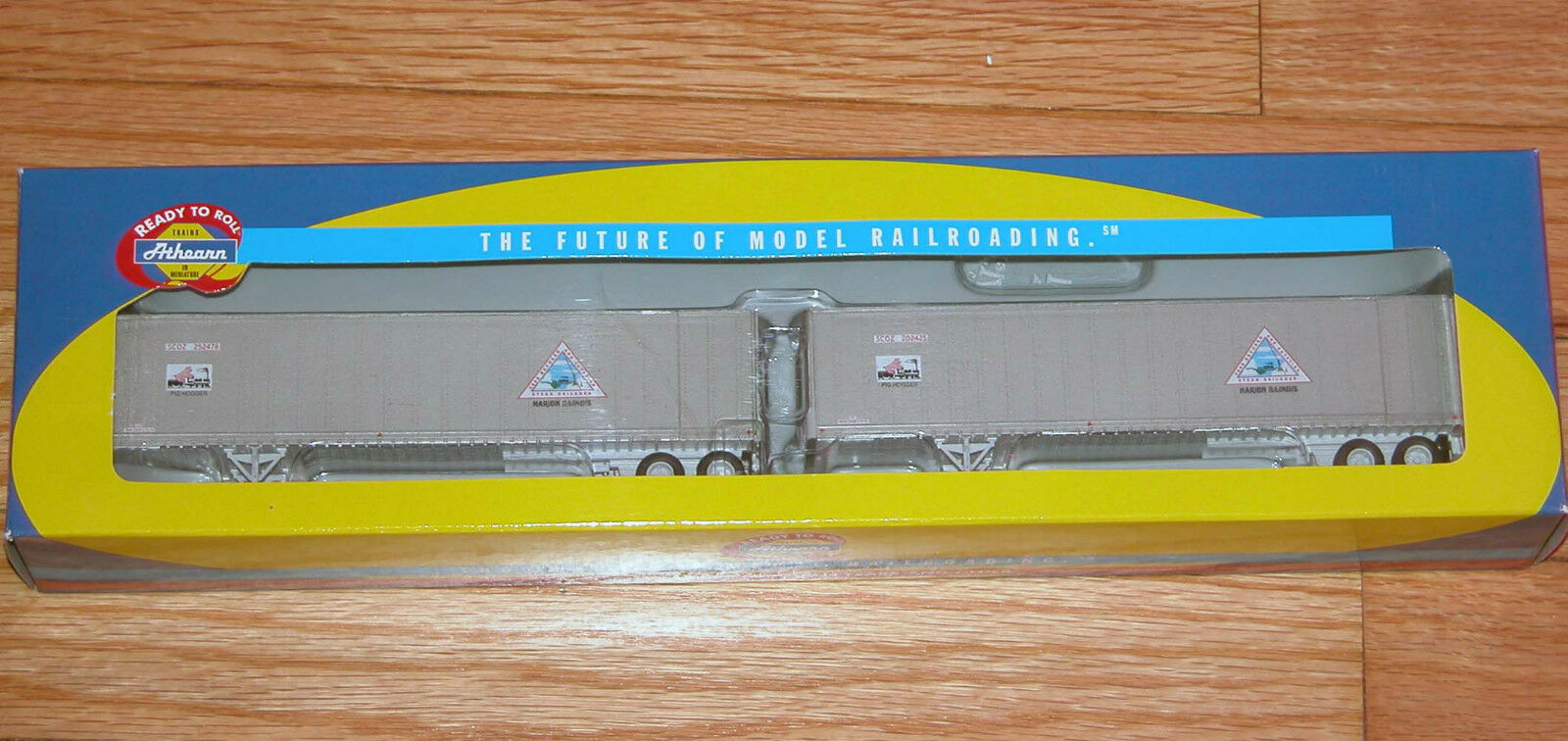 ATHEARN 73355 45' SMOOTH SIDE Z-VAN TRAILERS (2) CRAB ORCHARD & EGYPTIAN