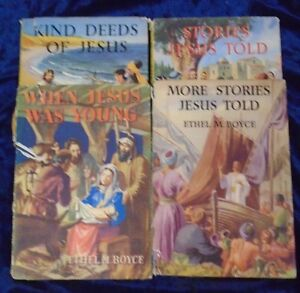4 VINTAGE RELIGIOUS BOOKS by ETHEL M BOYCE  ** £3.25 UK POST ** HARDBACKS