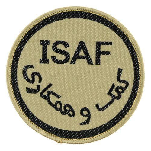 Klettabzeichen ISAF Afghanistan Aufnäher Patch NATO Schutztruppen Kutte NEU