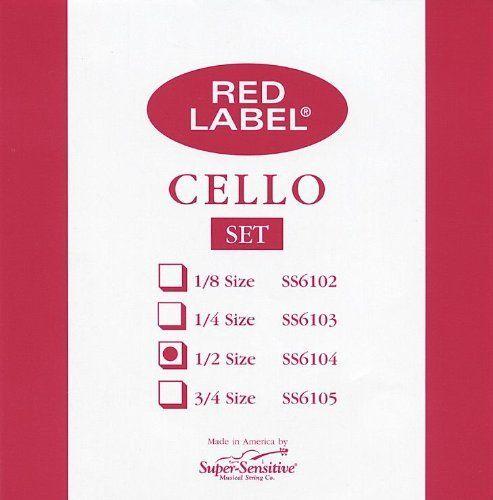 Super Sensitive 6104ssn s-sens Cello Stg Set 1 1 1 2  descuento de bajo precio