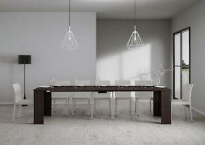 Tavolo Moderno Consolle.Dettagli Su Tavolo Consolle Allungabile Emy Fino A 3 Metri Moderno Salotto Cucina 14 Posti
