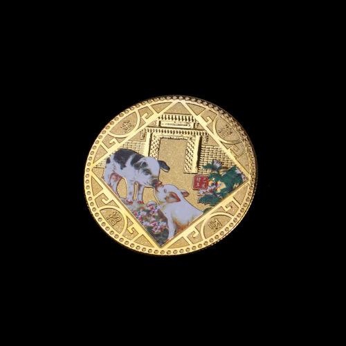 2019 Pig Commemorative Coin Chinese Zodiac Anniversary Coin Souvenir Medal vb