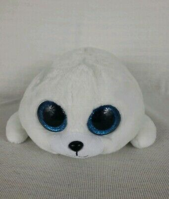"Ty 13/"" Medium ICY White Seal Beanie Boos Plush Stuffed Animal Heart Tags MWMT/'s"