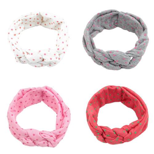 Kids Girls Baby Toddler Bow Knot Turban Headband Hair Band Headwear Head Wrap