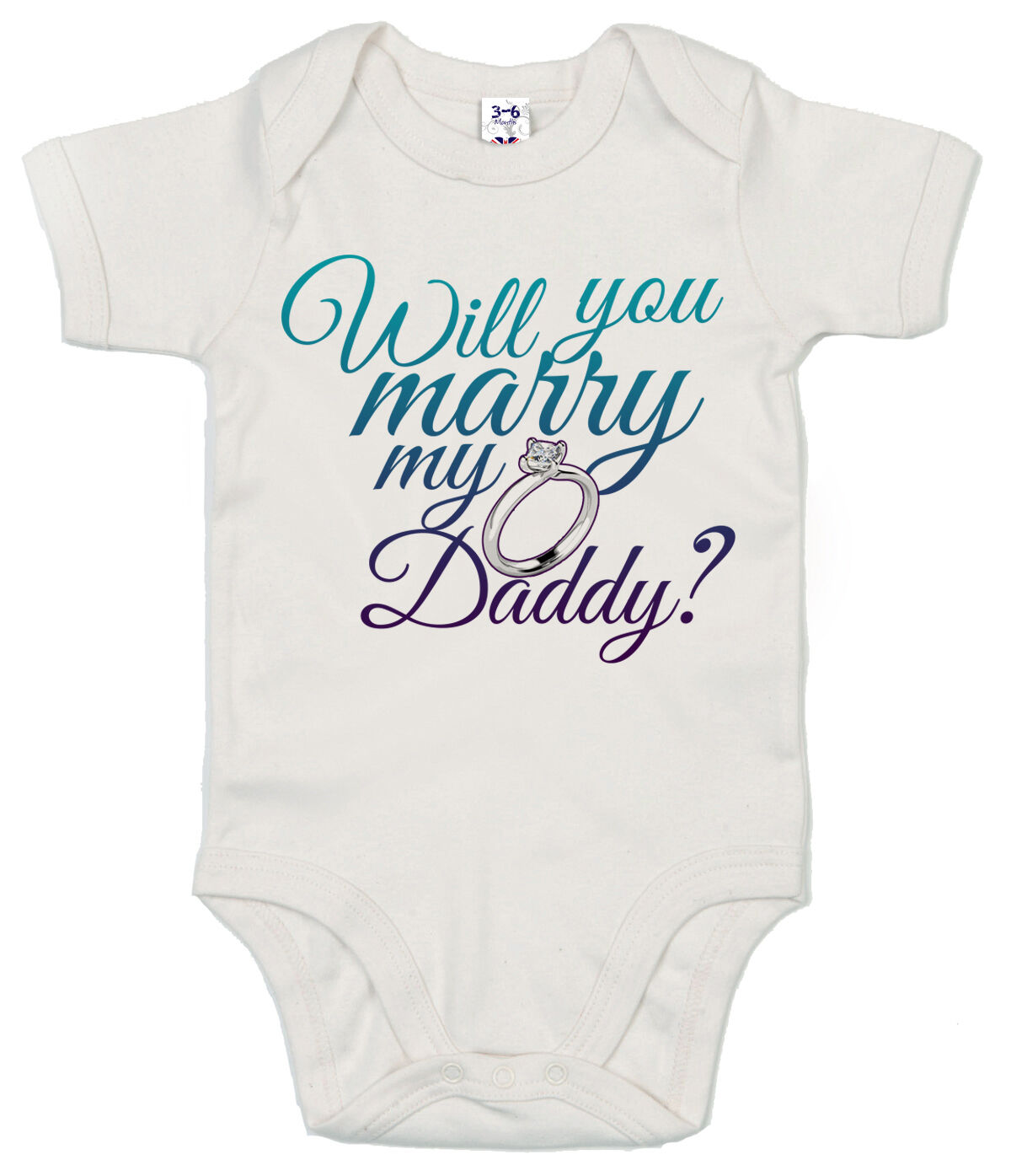"""Marriage Proposal Baby Bodysuit """"Will You Marry My Daddy"""