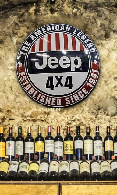 jeep wrenches on line off road metal tin sign ultimate garage