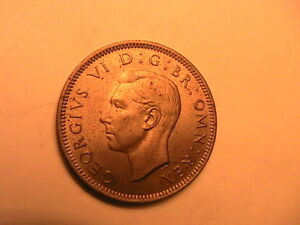 1949-GREAT-BRITAIN-1-Shilling-Ch-BU-Lustrous-Orig-UK-One-1-Sh-English-Crest-Coin
