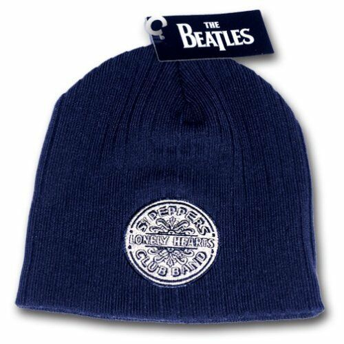 The Beatles Sgt Peppers Lonely Hearts Club Navy Beanie Hat