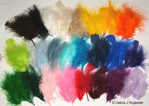 """Quality 3-8/"""" L  Fluffy Marabou Feathers in 30 colors 7 grams 1//4 oz Approx 35"""