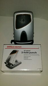 40 SHEET OFFICE DEPOT 2 HOLE PAPER PUNCH used