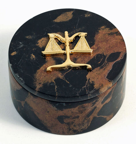 LEGAL OFFICE DESK CADDY SCALES OF JUSTICE DESKTOP ORGANIZER DESK ACCESSORIES