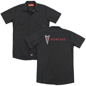 Pontiac-MODERN-PONTIAC-ARROWHEAD-Licensed-Adult-Dickies-Work-Shirt-All-Sizes