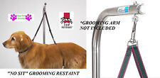 """Dog Pet GROOMING TABLE ADJUSTABLE HARNESS""""NO SIT""""SYSTEM RESTRAINT Support  Nylon"""