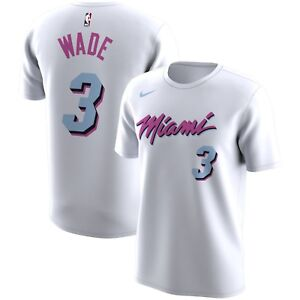 new product e0351 d945d Details about Nike NBA 2017-2018 Miami Heat Dwyane Wade #3 City Edition  Dri-FIT Player T-Shirt