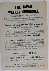 1914-Japon-Japonais-Tourist-Annonce-Hebdomadaire-Chronicle-News-amp-Articles