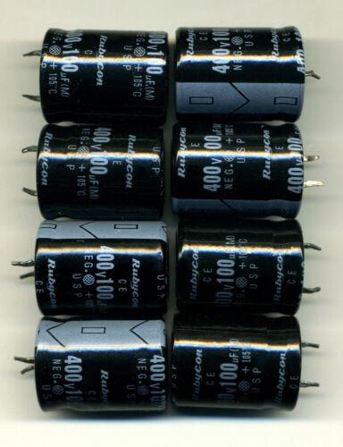 400 Volts LOT DE 8 CONDENSATEURS SNAP-IN 100 µF