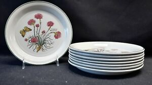 Wedgwood-England-Florabunda-Armeria-Maritima-Set-of-8-Salad-Plates