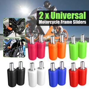 2Stk-Sturzpads-Crashpad-Slider-Motorrad-fuer-Yamaha-Honda-BMW-Suzuki
