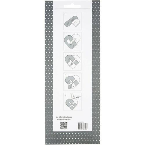 Tissé papier coeurs Kit Make 8 Paris Vivi gade design décoration pliable CR35