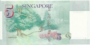 Singapore-Singapore-5-dollars-1999-UNC-Pick-39