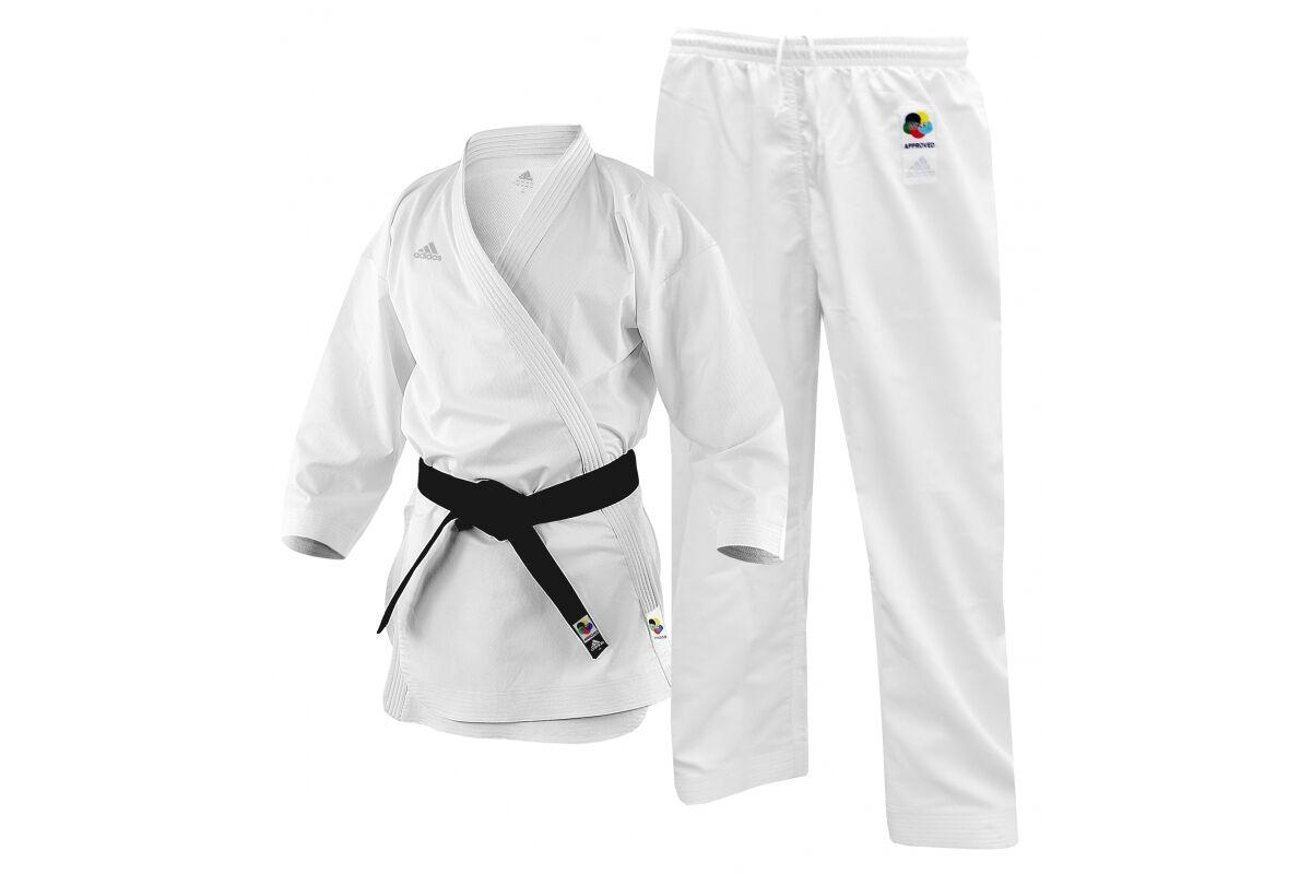 Adidas Adi-Zero Kumite Karate Gi WKF Approved Lightweight Suit 4.5oz Uniform