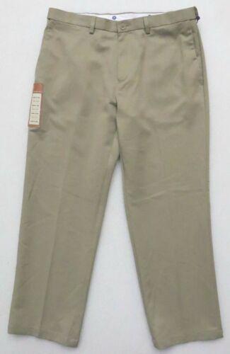 HAGGAR CLOTHING MEN/'S POLYESTER PERFORMANCE PANTS SLACKS KHAKIS COMFORT WAIST