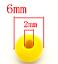 Holzperlen 6x5mm bunt Lochung 2mm Schmuckherstellung spacer beads Holzkugeln
