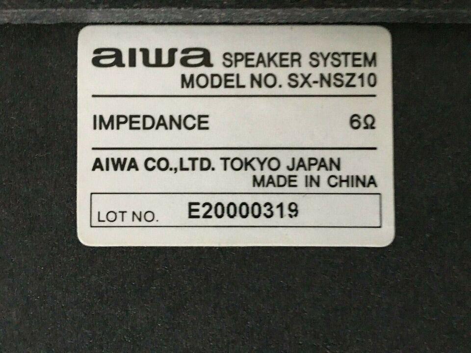 Højttaler, Aiwa, Speaker system SX-NSZ10