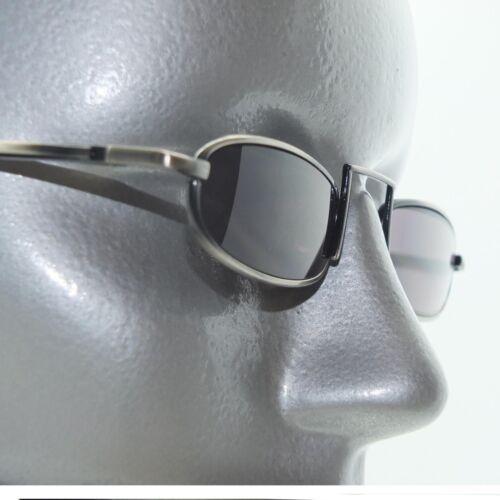 Dark Tint Reading Glasses Xtreme Narrow Lens Boho Gray Metal Frame +2.50 Power