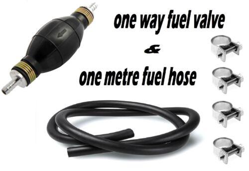 """3//8/"""" Primer Ampoule Avec One Way Clapet Antiretour /& 1 mètre durite carburant et 4 CLIPS"""
