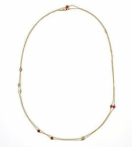 b87794258c730 Details about Tiffany & Co. Elsa Peretti Ruby and Diamond Necklace