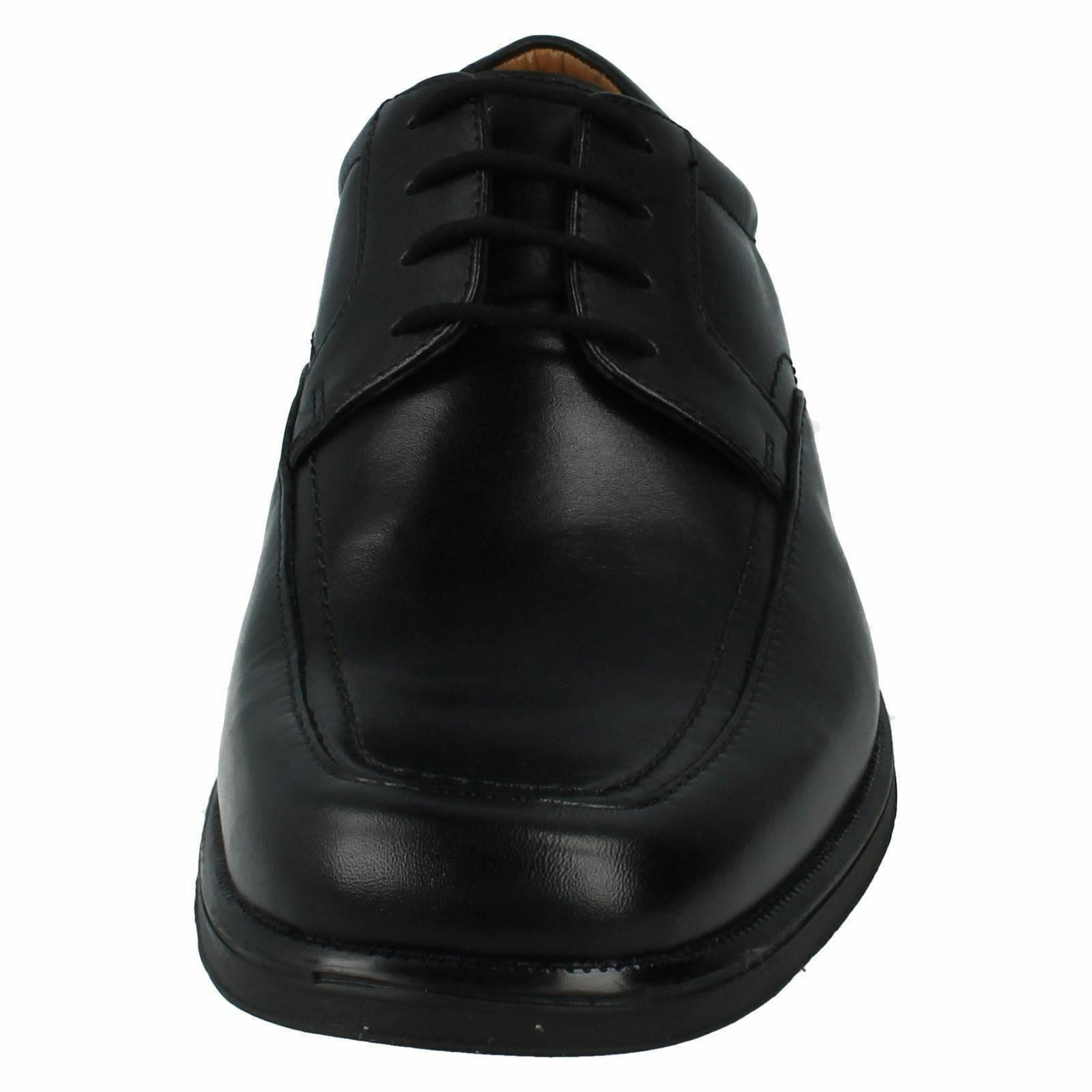 Mens Clarks schwarz Leder Lace Up Huckley Formal Schuhes G Fittting Huckley Up Spring a0c4f1