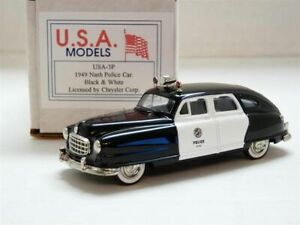 USA-Motor-City-US-3P-1-43-1949-Nash-Airflyte-Police-Handmade-White-Metal-Model